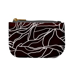 River System Line Brown White Wave Chevron Mini Coin Purses by Mariart