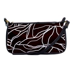 River System Line Brown White Wave Chevron Shoulder Clutch Bags by Mariart