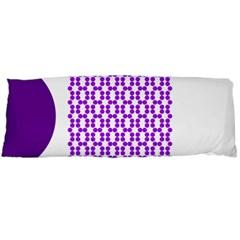 River Hyacinth Polka Circle Round Purple White Body Pillow Case (dakimakura) by Mariart