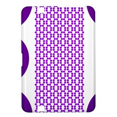 River Hyacinth Polka Circle Round Purple White Kindle Fire Hd 8 9  by Mariart