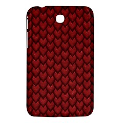 Red Snakeskin Snak Skin Animals Samsung Galaxy Tab 3 (7 ) P3200 Hardshell Case  by Mariart