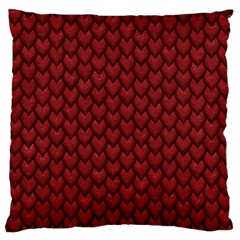 Red Snakeskin Snak Skin Animals Large Flano Cushion Case (one Side) by Mariart