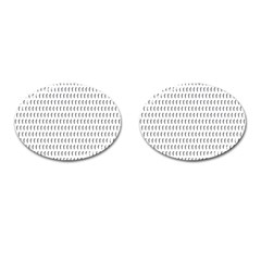 Renelle Box Waves Chevron Wave Line Cufflinks (oval) by Mariart
