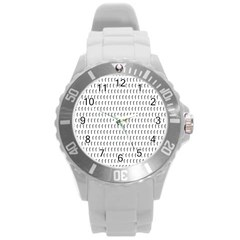 Renelle Box Waves Chevron Wave Line Round Plastic Sport Watch (l) by Mariart