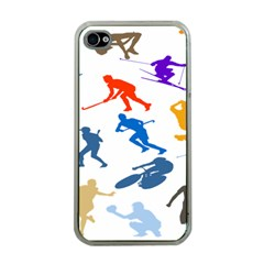 Sport Player Playing Apple Iphone 4 Case (clear) by Mariart