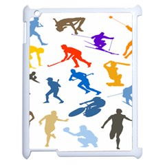 Sport Player Playing Apple Ipad 2 Case (white) by Mariart