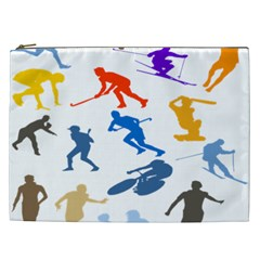 Sport Player Playing Cosmetic Bag (xxl)  by Mariart