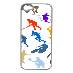 Sport Player Playing Apple Iphone 5 Case (silver) by Mariart
