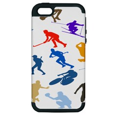 Sport Player Playing Apple Iphone 5 Hardshell Case (pc+silicone) by Mariart