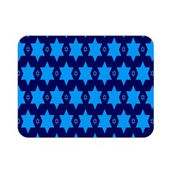 Star Blue Space Wave Chevron Sky Double Sided Flano Blanket (mini)  by Mariart