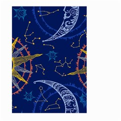 Sun Moon Seamless Star Blue Sky Space Face Circle Large Garden Flag (two Sides) by Mariart