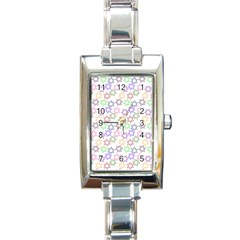 Star Space Color Rainbow Pink Purple Green Yellow Light Neons Rectangle Italian Charm Watch by Mariart