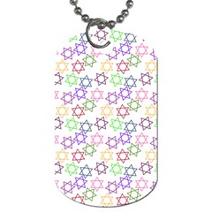 Star Space Color Rainbow Pink Purple Green Yellow Light Neons Dog Tag (two Sides) by Mariart