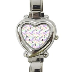 Star Space Color Rainbow Pink Purple Green Yellow Light Neons Heart Italian Charm Watch by Mariart