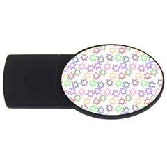 Star Space Color Rainbow Pink Purple Green Yellow Light Neons Usb Flash Drive Oval (4 Gb) by Mariart