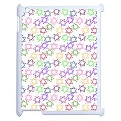 Star Space Color Rainbow Pink Purple Green Yellow Light Neons Apple Ipad 2 Case (white) by Mariart