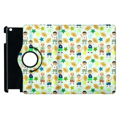 Kids Football Players Playing Sports Star Apple Ipad 3/4 Flip 360 Case by Mariart