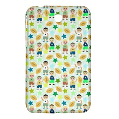 Kids Football Players Playing Sports Star Samsung Galaxy Tab 3 (7 ) P3200 Hardshell Case  by Mariart
