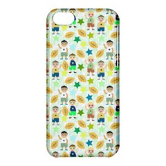 Kids Football Players Playing Sports Star Apple Iphone 5c Hardshell Case by Mariart