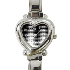 Triangle Black White Wave Chevron Heart Italian Charm Watch by Mariart