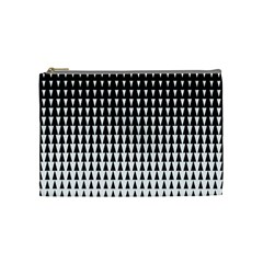 Triangle Black White Wave Chevron Cosmetic Bag (medium)  by Mariart