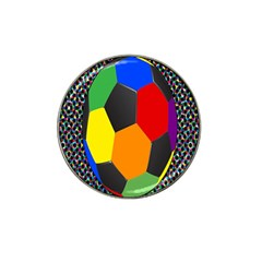 Team Soccer Coming Out Tease Ball Color Rainbow Sport Hat Clip Ball Marker by Mariart