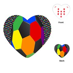 Team Soccer Coming Out Tease Ball Color Rainbow Sport Playing Cards (heart)  by Mariart