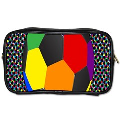 Team Soccer Coming Out Tease Ball Color Rainbow Sport Toiletries Bags 2 Side by Mariart