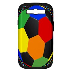 Team Soccer Coming Out Tease Ball Color Rainbow Sport Samsung Galaxy S Iii Hardshell Case (pc+silicone) by Mariart