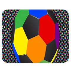 Team Soccer Coming Out Tease Ball Color Rainbow Sport Double Sided Flano Blanket (medium)  by Mariart