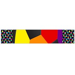 Team Soccer Coming Out Tease Ball Color Rainbow Sport Flano Scarf (large) by Mariart