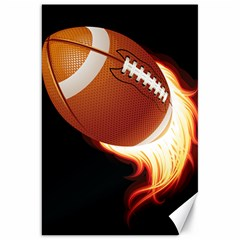 Super Football American Sport Fire Canvas 20  X 30   by Mariart