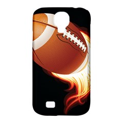 Super Football American Sport Fire Samsung Galaxy S4 Classic Hardshell Case (pc+silicone) by Mariart