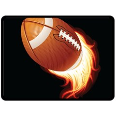 Super Football American Sport Fire Double Sided Fleece Blanket (large)  by Mariart