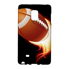 Super Football American Sport Fire Galaxy Note Edge by Mariart