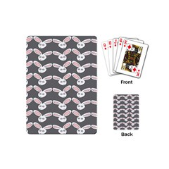Tagged Bunny Illustrator Rabbit Animals Face Playing Cards (mini)  by Mariart