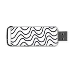 Wave Waves Chefron Line Grey White Portable Usb Flash (two Sides) by Mariart