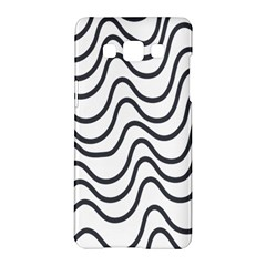 Wave Waves Chefron Line Grey White Samsung Galaxy A5 Hardshell Case  by Mariart