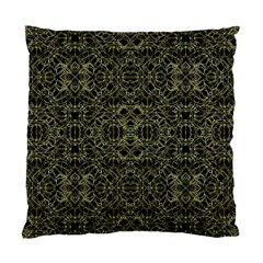 Golden Geo Tribal Pattern Standard Cushion Case (two Sides) by dflcprints