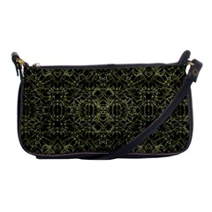 Golden Geo Tribal Pattern Shoulder Clutch Bags by dflcprints