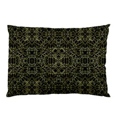 Golden Geo Tribal Pattern Pillow Case (two Sides) by dflcprints