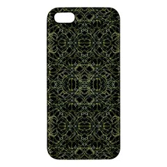 Golden Geo Tribal Pattern Apple Iphone 5 Premium Hardshell Case by dflcprints