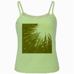 Big Bang Green Spaghetti Tank by ValentinaDesign
