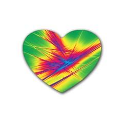 Big Bang Rubber Coaster (heart)  by ValentinaDesign