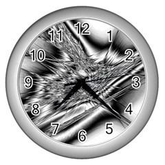Big Bang Wall Clocks (silver)  by ValentinaDesign