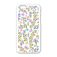 Twigs And Floral Pattern Apple Iphone 6/6s White Enamel Case by Coelfen