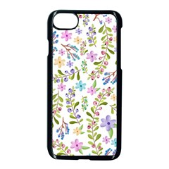 Twigs And Floral Pattern Apple Iphone 7 Seamless Case (black) by Coelfen