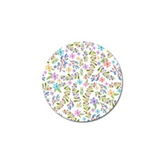 Twigs And Floral Pattern Golf Ball Marker by Coelfen