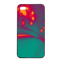Lights Apple Iphone 4/4s Seamless Case (black) by ValentinaDesign