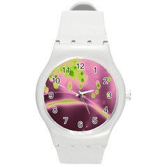 Lights Round Plastic Sport Watch (m) by ValentinaDesign